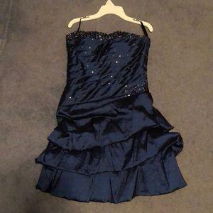 Navy blue short party dress